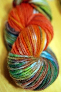 crock pot dyed yarn! by -leethal-
