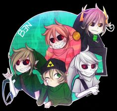 Whats this? A homestuck version and a trickster version of BEN Drowned??????? YES.