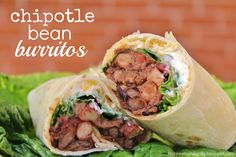 Need a quick and easy dinner tonight? Make these chipotle bean burritos. You won't regret it!!