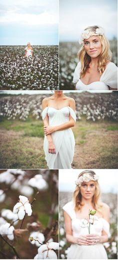 Cotton Field Bridal Shoot by Love Is a Big Deal | Style Me Pretty