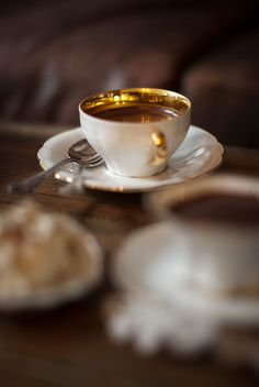 Starting my morning with a good cup of coffee.~ Miss Millionairess