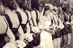 like this...but holy cow how many bridesmaids do you need?!