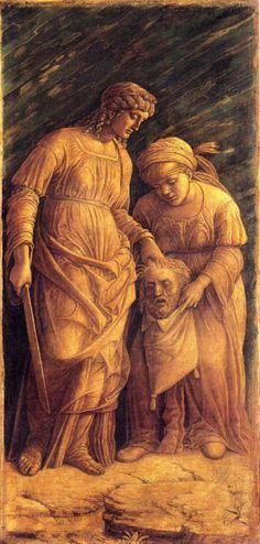 Judith with the head of Holofernes by Andrea Mantegna,  Metropolitan,New York; of Art,Montreal (Museum)