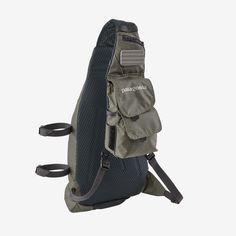 The Patagonia Vest Front Sling combines a traditional fishing vest and sling pack for a best-of-both-worlds solution for fresh and saltwater fishing. Kayak Fishing Gear, Fishing Vest, Fishing Lures, Fly Fishing, Fishing Equipment, Motorcycle Backpacks, Mini 14, Spool Holder, Patagonia Vest