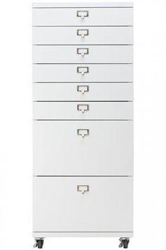 Becker 6+2 Drawer Metal Cart   Rolling Storage Cart   Storage Carts    Storage