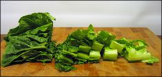 Lettuce Cutting Tips - Way to cut Romaine and Red Tip to get all pieces the same size.