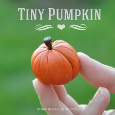 Tiny Pumpkin Tutorial...use English walnuts, not Black walnuts