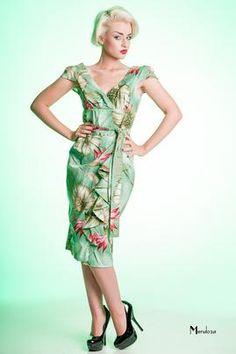 tiki, 1950s, Sarong Dress, by Limb