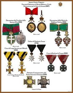 I NOSTRI AVI • Leggi argomento - Tavole ordini AUSTRIA-UNGHERIA (Nuove) Austro Hungarian, Emblem, Austro Húngaro, Austria, Awards, Decorations, Military Insignia, Darmstadt, Badge