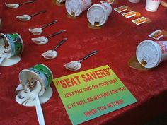 LOL I wonder if these really work to save your seat??