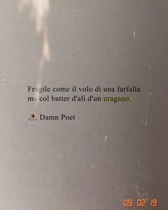 fragile as the flight of a butterfly but with the flutter of a hurricane Italian Phrases, Italian Quotes, French Quotes, Motivational Phrases, Inspirational Quotes, Instagram Caption Lyrics, Together Quotes, Quotes About Everything, Loss Quotes