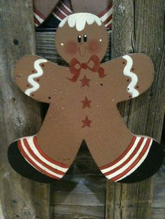 Adorable Gingerbread man Yard stake  Personalized by cntrysisters, $7.75
