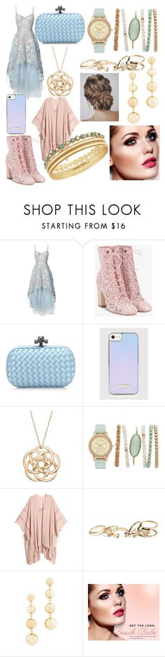 """""""~Princess~"""" by boredom-is-my-motivation ❤ liked on Polyvore featuring Notte by Marchesa, Laurence Dacade, Bottega Veneta, GUESS, Rebecca Minkoff, BHCosmetics and Lucky Brand"""