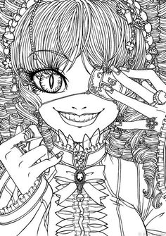 gothic coloring pages for adults - Emo Coloring Pages To Print