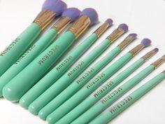 Spectrum vegan and cruelty free makeup brushes.