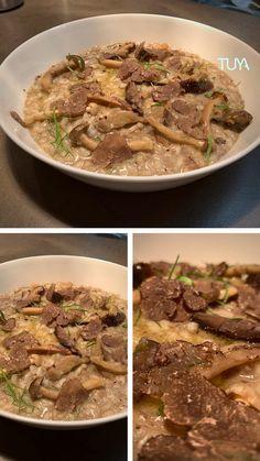 Mushroom Risotto, Black Truffle, Truffles, Stuffed Mushrooms, Beef, Food, Stuff Mushrooms, Meat, Essen