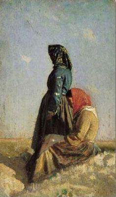 Cristiano Banti - Due contadine toscane 1865