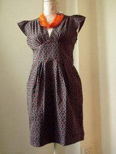 Gray Retro Short  Pure Cotton Cute Dress by LoudandProudLondon, $37.82