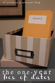 Great wedding, anniversary, or birthday gift. 12 pre-planned dates with everything you need in an envelope for each month of the year! - all precious & pleasant blog