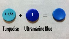 teal from turquoise & ultramarine ~ Polymer Clay Color mix
