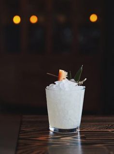 In this twist on the Three Dots and a Dash cocktail, San Diego barman Stephen Kurpinsky welcomes funky Mexican rum (charanda) to the party. Cocktail Recipes, Cocktails, Cocktail Illustration, Tiki Lounge, Honey Syrup, Non Alcoholic Drinks, Beverages, Sweet Tarts, Fresh Lime Juice