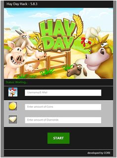 New Hay Day hack is finally here and its working on both iOS and Android platforms. This generator is free and its really easy to use! Glitch, Hay Day App, Hay Day Cheats, Voucher, Point Hacks, App Hack, Ios, Gaming Tips, Game Resources