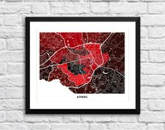 Athens, Georgia Art Map Print. Choose your colors and size. Art Map Print of Athens, Georgia, home to the University of Georgia and the Georgia Bulldogs. Perfect art for your home or office. Maps & Charts make great home decor and gifts. Looks great on any wall. Pick the size and colors that match your space and style. This print does NOT come with a frame. The print does come in standard sizes, so framing is easy: 8.5 x 11, or 11 x 14, or 13 x 19: THIS SIZE is formatted perfectly for the...