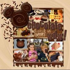 March 2012 Kit Challenge: Chocolate at WDW - MouseScrappers - Disney Scrapbooking Gallery
