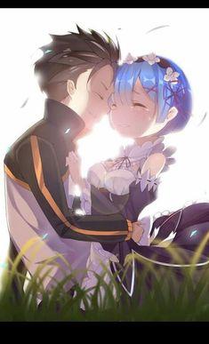 cleavage maid natsuki_subaru re_zero_kara_hajimeru_isekai_seikatsu rem_(re_zero) tagme Anime Couples Hugging, Anime Couples Drawings, Cute Anime Couples, Couple Hugging, Couple Drawings, Otaku Anime, Subaru, Anime Kawaii, Re Zero Wallpaper