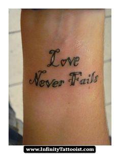 love never fails infinity tattoo 04 - http://infinitytattooist.com/love-never-fails-infinity-tattoo-04/