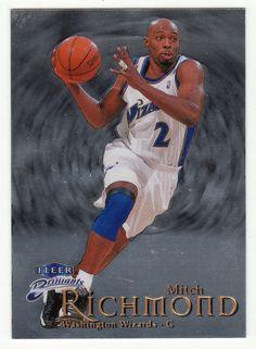 Mitch Richmond # 78 - 1998-99 Fleer Brilliants Basketball Basketball Cards, Nba Basketball, Washington Wizards, Mint, Baseball, Sports, Hs Sports, Sport