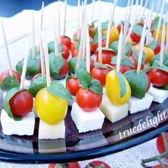 Appetizer with chery tomatoes by truedelights