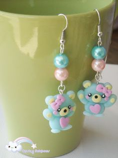 Collezione Sweet Overdose - Orecchini Sugar Bear #kawaii #cute #sweet #handmade #jewels