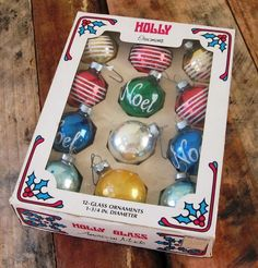 vintage glass ornaments... etsy