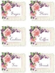 Image result for pastel kitchen canister labels decoupage pinterest Kitchen Canister Labels, Pastel Kitchen, Decoupage, Pop Pop, Motifs, Frame, Albums, Decor, Cakes