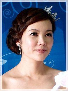 甜美,編髮,皇冠,平口,白色禮服,台北新娘秘書,婚宴新秘
