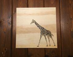 A giraffe! Wood burn hiatus is over!