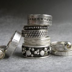 rings Silver jewelry is the absolute go to accessory! I love the texture & color of silver.Silver jewelry is the absolute go to accessory! I love the texture & color of silver. Metal Jewelry, Boho Jewelry, Jewelry Art, Sterling Silver Jewelry, Jewelry Rings, Jewelery, Jewelry Accessories, Fine Jewelry, Jewelry Design