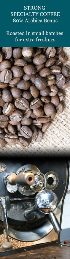 Premium Blend of Arabica and Robusta beans. Medium roast with rich, intense and luxurious flavours. Read for origin of coffee + how we roast our beans. Coffee Supplies, Buy Tea, Coffee Beans, Coffee Shop, Roast, Stuffed Mushrooms, Food, Coffee Shops, Stuff Mushrooms