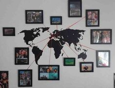 Trip Reminiscence Photograph Map - Do-It-Your self Enjoyable Concepts.  Discover more by going to the photo