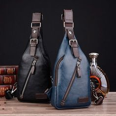 Men PU Leather Retro Portable Leisure Shoulder Bag Chest Bag Crossbody Bag is worth buying - NewChic Mobile.