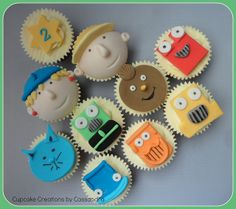 Bob the Builder Cupcakes by Cupcake Creations by Cassandra, via Flickr