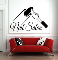 Nail Salon Wall Decal Manicure Pedicure Window Sticker Beauty Salon Spa Wall Decor – All About Nail Nail Salon Decor, Beauty Salon Decor, Window Stickers, Wall Stickers, Nail Logo, Nail Art Studio, Salon Interior Design, Book Wall, Painting Quotes