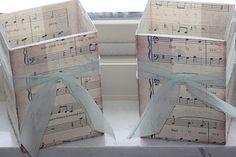 Music Sheet Vases