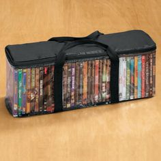 Get organized with this DVD Storage Case! $7.99 & Amazon.com: Artisan 240 Disc Black Faux Leather DVD Album with 120 ...