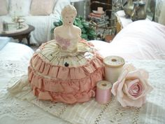 Vintage pinner, pincushion doll, my mom had these when I was little