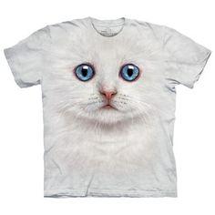 T-Shirt Wießes Kätzchen, 19€, jetzt auf Fab.