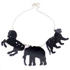 Circus Animals Necklace by Haberdash House