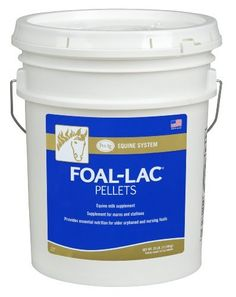 25lb by PetAg. $61.67. Supplement Pellets. Mare Supplement. Balanced protein and other essential nutrients for growth in foals.. Equine Milk Supplement. Foal-Lac Pellets Offers a balanced protein and other essential nutrients for growth in foals.  As a supplement to the foal's creep ration.  Foal-Lac Pellets provide milk nutrients to nursing foals at a time when its mare's milk declines in quantity and quality.  Foal-Lac Pellets has been a valuable supplement f...