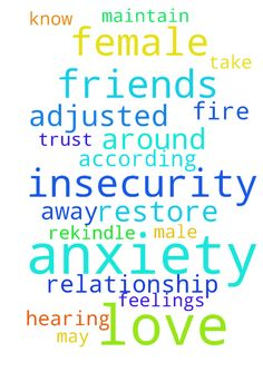 Anxiety and insecurity -  Father God, Please take away my anxiety and insecurity with other females around Z. I know he has female friends just like i have male friends. Please help me maintain my feelings. Please my Lord restore our relationship and may you rekindle the fire of our love. Thank you Jesus for hearing my prayer, let my prayer be adjusted according to the will of God. Lord I need you thank you I trust you I love you and Jesus Christ name I pray amen  Posted at…